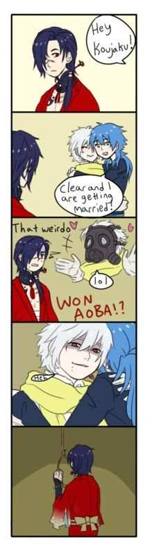 Koujaku Funny Moment with Clear + Aoba  Poor Poor Koujaku