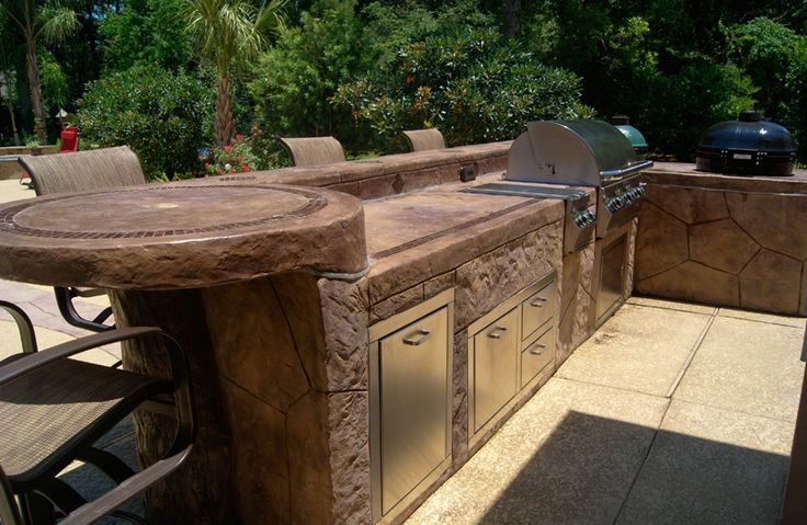 17 best ideas about covered outdoor kitchens on pinterest for Outdoor kitchen designs houston