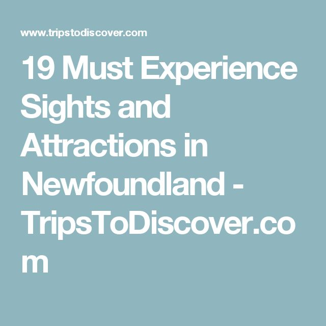 19 Must Experience Sights and Attractions in Newfoundland - TripsToDiscover.com