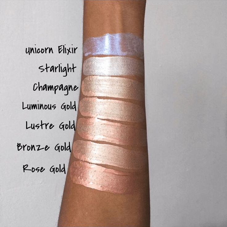 Makeup revolution liquid highlighter lustre gold