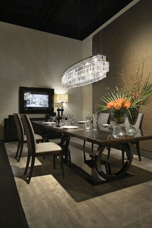 Fendi Casa FF CASA Galileo Maxi table and Frangie chairs