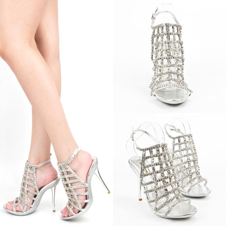 Silver Cage Sandals