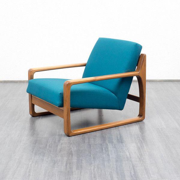 Vintage Sessel   60er Jahre Lounge Sessel, Neu Gepolstert   Ein  Designerstück Von Velvet