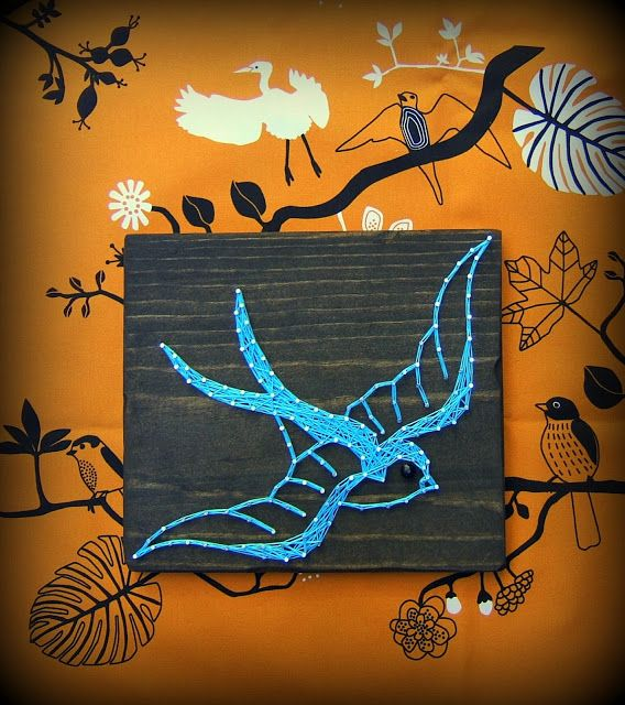 Vintage Tattoo Swallow String Art