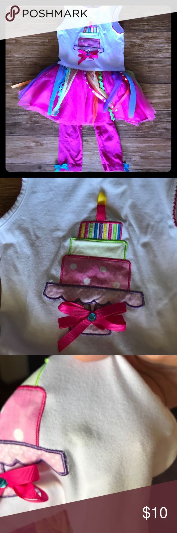 Free with Bundle Happy Birthday Outfit Adorable Rare Editions tunic and Leggings Set! Perfect for celebrating a Happy Birthday!! There is a stain near the cake noted in the third picture. Make me an offer!! Even better, product is free with bundle of 4 or more items!! Rare Editions Matching Sets