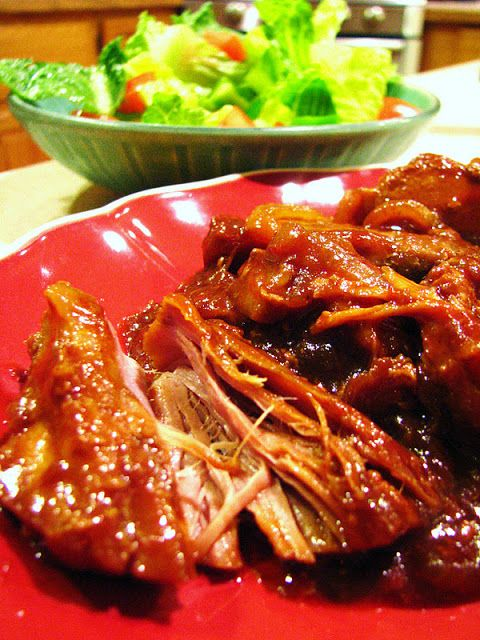 Crock Pot Boneless Country-Style Ribs. This one is a winner! Before i have always thrown the ribs in with just barbecue sauce... and they turn out ok... but cooking it first in this mixture and then adding the sauce toward the end works so much better! Loved it.