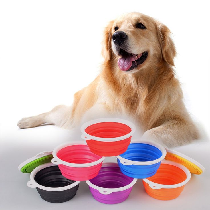 >> Click to Buy << Pet Silica Gel Bowl Dog cat Collapsible silicone bowl candy color outdoor travel portable puppy food feeder #Affiliate