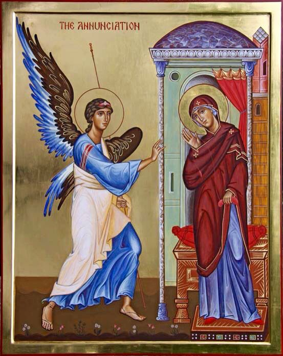 Annunciation by Aidan Hart