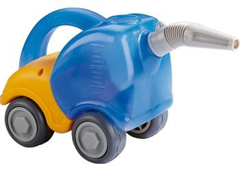 Sand Play Water Tanker Truck. The Haba Tanker Truck is made of Polypropylene with phthalate-free wheels.
