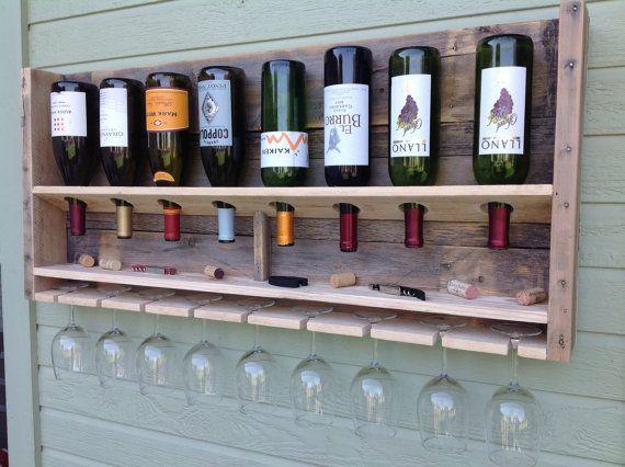 SimplisticNatural large reclaimed wood wine by DelHutsonDesigns, $99.00