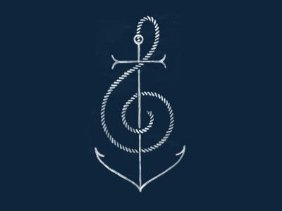 Anchor music tattoo designs