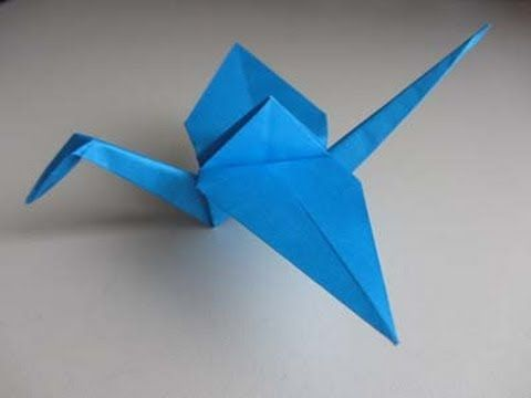How to fold an origami crane aka how to keep occupied during an evening shift