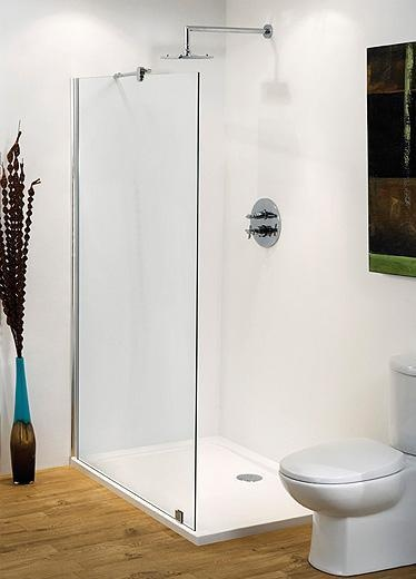 800mm Wet Room Shower Screen with MX Classic Shower Tray