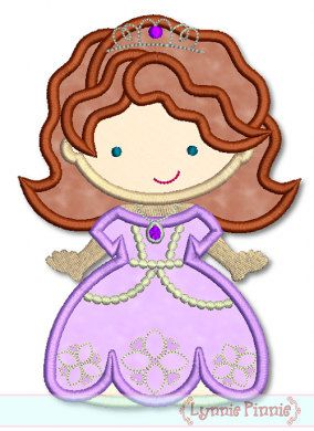 Little Sophie PRINCESS Cutie Applique 4x4 5x7 6x10  Machine Embroidery Design INSTANT Download on Etsy, $2.99