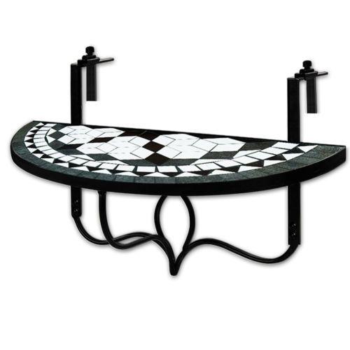 Ideal Details zu Balkontisch Mosaik Klappbar Klapptisch H ngetisch Mosaiktisch Gartenm bel