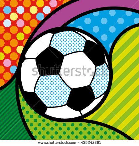 POP ART FOOTBALL SOCCER BALL https://www.shutterstock.com/g/lilli_jemska?rid=158830&utm_medium=email&utm_source=ctrbreferral-link