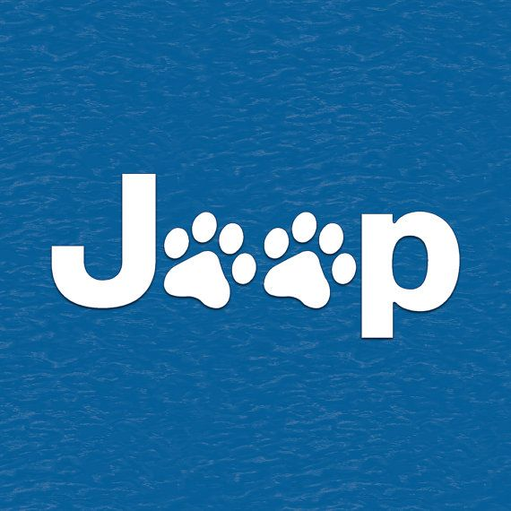Jeep Wrangler Cat Dog Paw Prints Vinyl Decal by BaysideStickers
