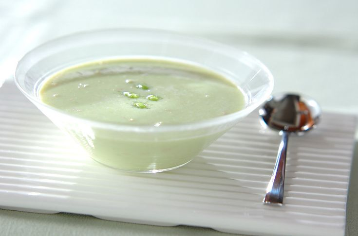 夏と言えば、冷製スープ。今回はカニ缶入りの和風の味枝豆とカニの冷製和風スープ/横田 真未のレシピ。[和食/汁もの・椀もの]2010.07.12公開のレシピです。