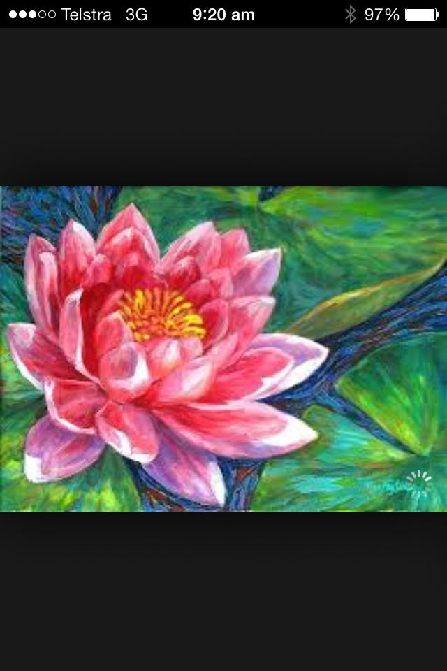 Beautiful painting of a lotus flower