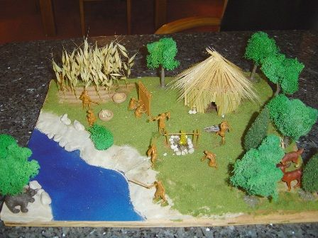 pictures of cherokee indian school projects | You Will Know Us By Our Homes - A Project Archaeology Native American ...