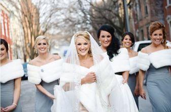 Abito da sposa per matrimonio in montagna