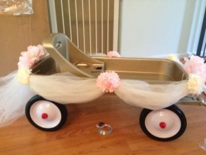 "Flower Girl Wagon for the ""little flower girls"""