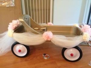 """Flower Girl Wagon for the """"little flower girls"""""""