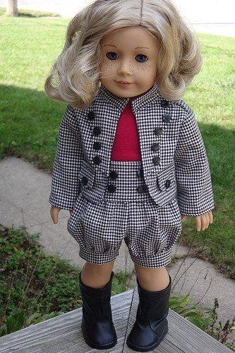 Veste fille ville et Shorts Outfit Houndstooth catalogue pour American Girl ou…