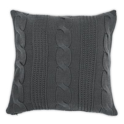 50x50cm Cable Knit cushion Charcoal