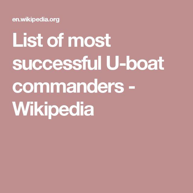 List of most successful U-boat commanders - Wikipedia