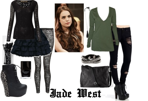 """Jade West"" by smellmyfro ❤ liked on Polyvore"