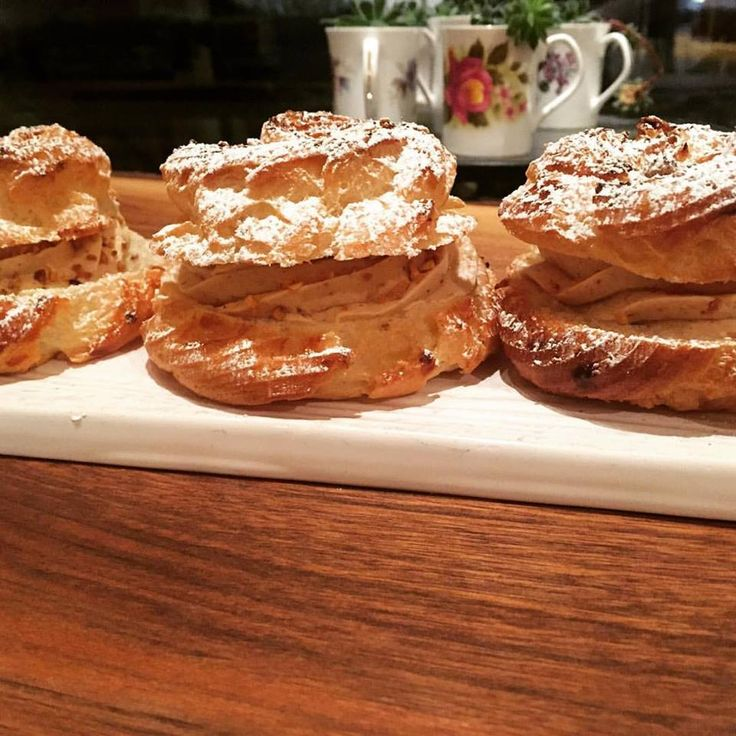 The Paris-Brest is back! Hazelnut praline mousseline cream inside choux pastry. Perfection!