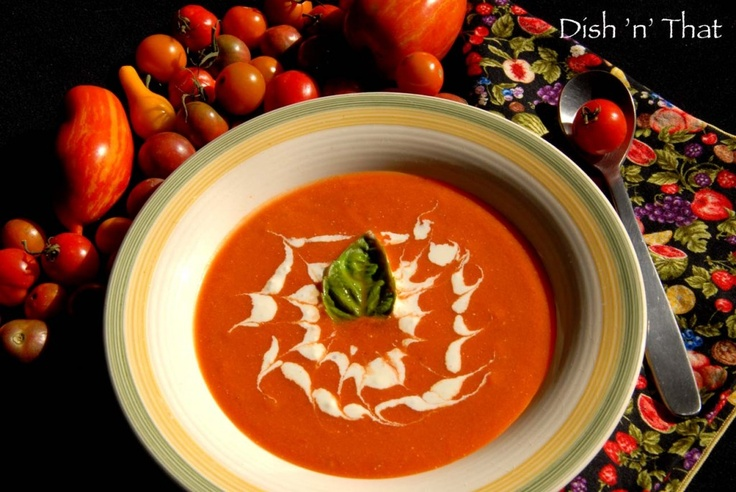 Cream of Tomato Gorgonzola Soup Recipe - Combine the tomato soup, diced tomatoes, water, and milk in a large saucepan over medium heat. Stir in Gorgonzola cheese, garlic, basil, and onion powder. Reduce heat to low; simmer 15 to 20 minutes, stirring often.