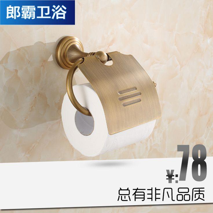 Купить товарPa ланг меди вешалка для полотенец полный античная держатель для туалетной бумаги перемотки аксессуары для ванной комнаты полотенце крюк туалетные принадлежности в категории Держатели бумагина AliExpress.