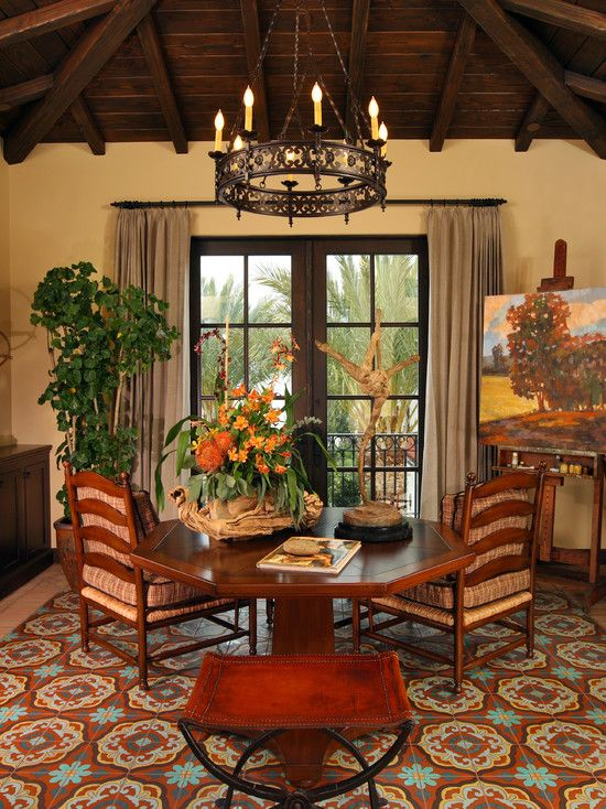 Mediterranean Family Room Design Pictures Remodel Decor And Ideas