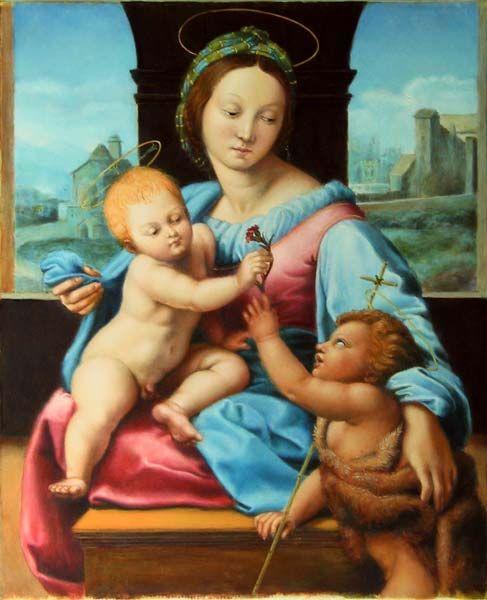 Madonna Aldobrandini (da Raffaello, 2009) - Olio su tela