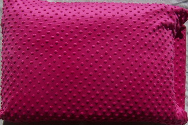 Fuschia Minky Standard Pillow Case Standard Pillow