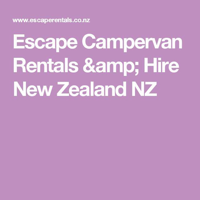 Escape Campervan Rentals & Hire New Zealand NZ
