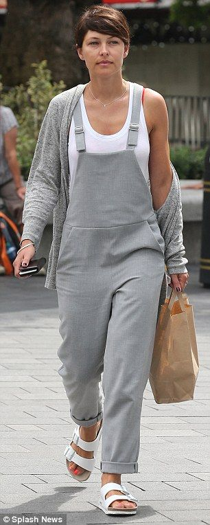 Make-up free: Emma appeared to bare her face as she visited the Capital Radio studios with...