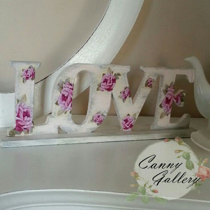 Love, decoupage, decoration. Order : cannygallery@yahoo.com