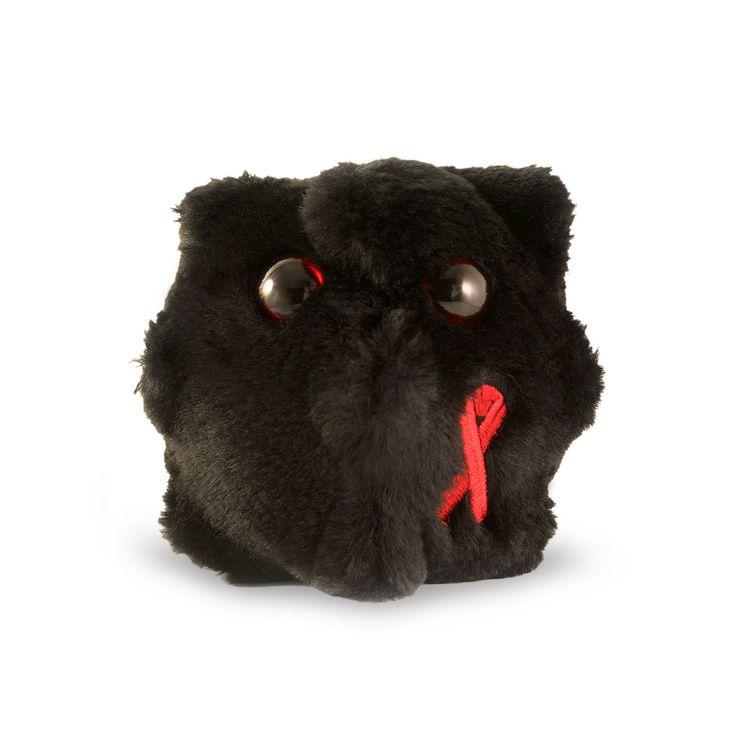 HIV jest pluszakiem kolorem, kształtem i wyglądem przypominającym żywego wirusa wywołującego AIDS. Jest od niego jednak znacznie większy – mierzy 12 cm.