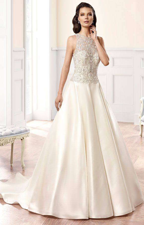 Wedding dress | Bridal gown | Eddy K | Style CT135 | Satin | Direct embroidery with heavy hand beading | Available at Brides of Melbourne |