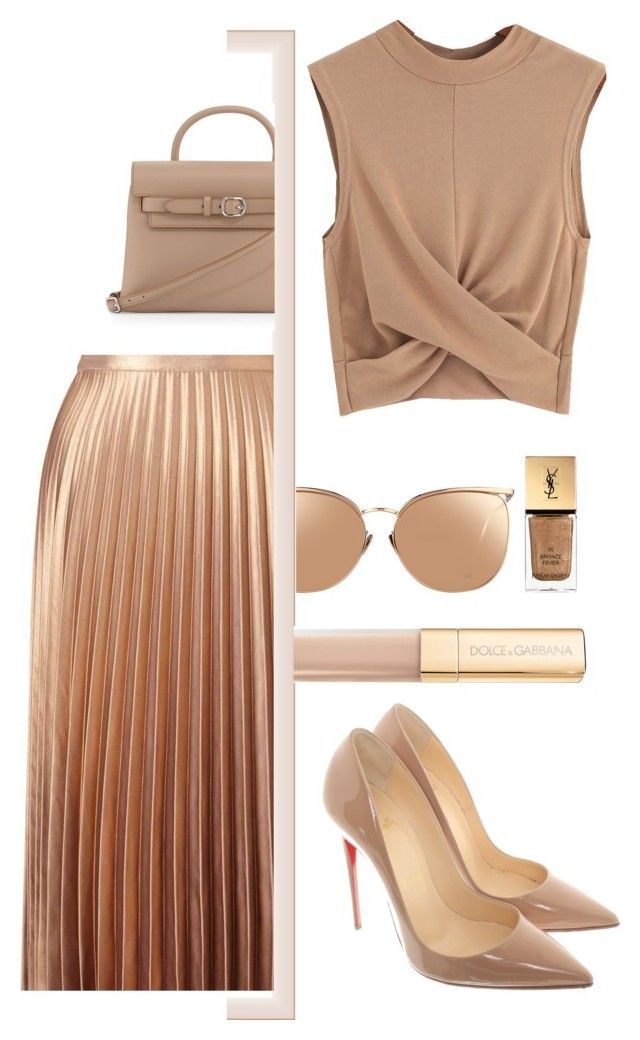"""""""Untitled #311"""" by rebecky89 ❤ liked on Polyvore featuring Miss Selfridge, Alexander Wang, Christian Louboutin, Linda Farrow, Yves Saint Laurent and Dolce&Gabbana"""