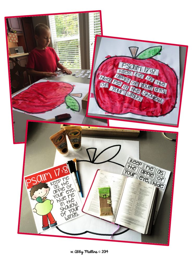 Free apple-themed memory verse printable and craftivity @ The Inspired Apple :)