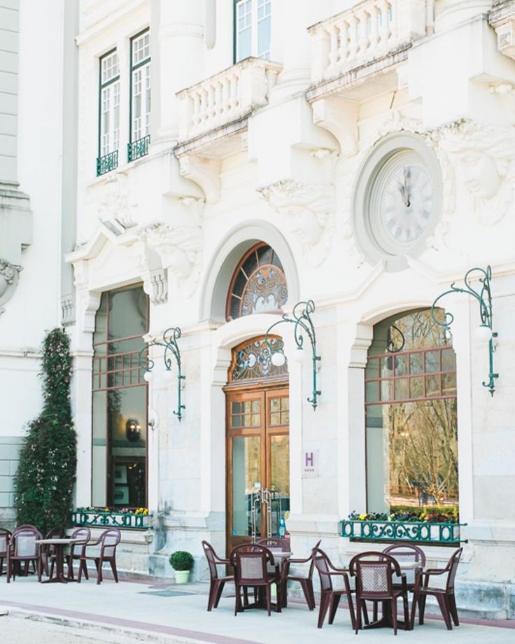 We're in love with Curia Palace Hotel  So beautiful! #curia #curiapalacehotel #slowliving #artnouveau