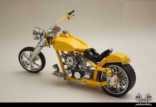 harley davidson 39 39 88 yellow 39 39 by bricksonwheels via. Black Bedroom Furniture Sets. Home Design Ideas