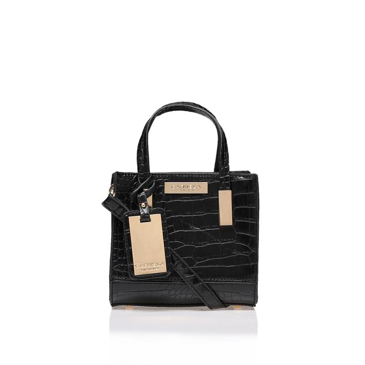 JULES MICRO BAG Black Micro Tote Bag by Carvela Kurt Geiger
