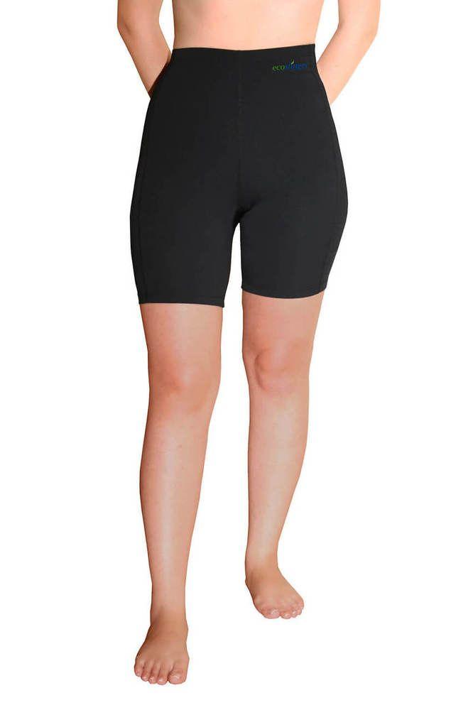 Women Swim Capri Tights High Waist UV Protection Swimwear UPF50 Black