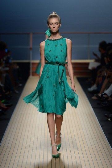 Abito corto verde smeraldo Ermanno Scervino