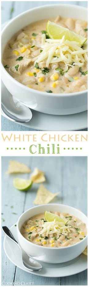 White Chicken Chili - It's creamy and incredibly delicious!!